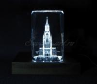 Спасская башня. Сувенир. Монохромная подсветка.