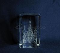 Храм Василия Блаженного. Объёмная гравировка. Вид сбоку.