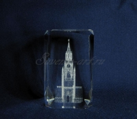 Спасская башня. Сувенир из стекла.
