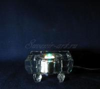 Стеклянная светодиодная цветопеременная подсветка квадрат