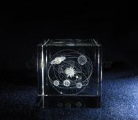 Солнечная система. Сувенир из стекла с лазерной графикой.