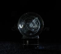 Солнечная система. Шар. Сувенир из стекла.