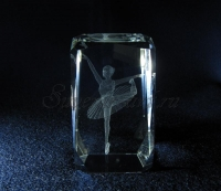 Балерина. Гравировка в стекле.
