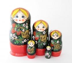 "Матрёшка ""Клубничка"", 5 кукол."