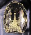 Яйцо гранёное с изображением Храма Василия Блаженного.
