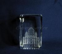 Храм Христа Спасителя в стекле. Сувенир. Вид сбоку