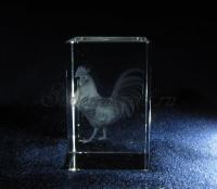 """Сувенир из стекла """"Петух"""""""