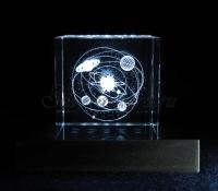 Солнечная система. Сувенир. Монохромная подсветка куба.