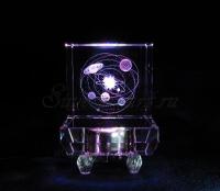 Солнечная система. Сувенир. Полихромная подсветка квадрат.