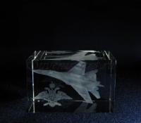 Су-27. Кристалл с лазерной графикой.