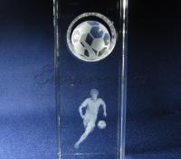 Подарок футболисту. Эксклюзивные изделия из стекла с лазерной графикой.